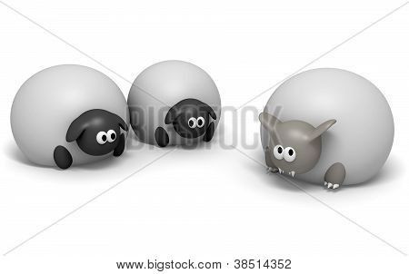 Wolf In Sheeps Clothing Isolated
