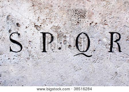 SPQR, Senatus Populus Que Romanus