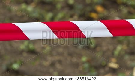 Red And White Warning Tape