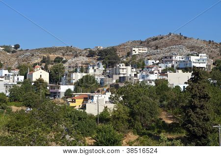 Crete island in Greece. Anogia village