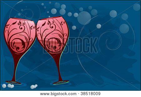 Wine glasses to toast