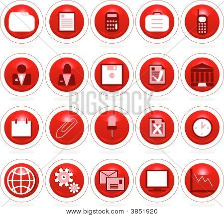 Business Icon Web Buttons