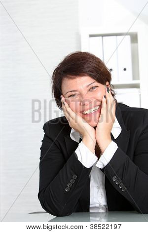 Smiling Vivacious Businesswoman