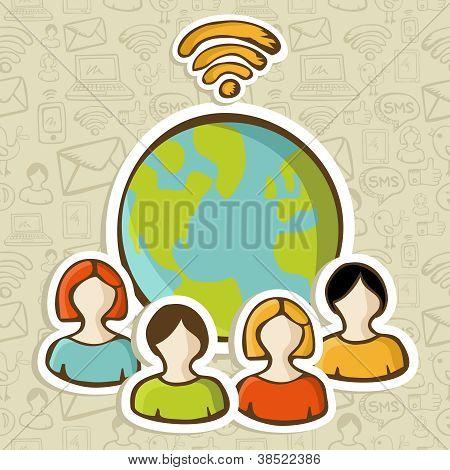 Internetverbindung Vielfalt Menschen global