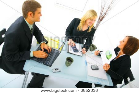 Happy Businessteam On Meeting
