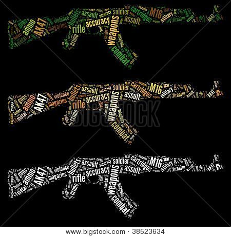 AK14 rifle graphics
