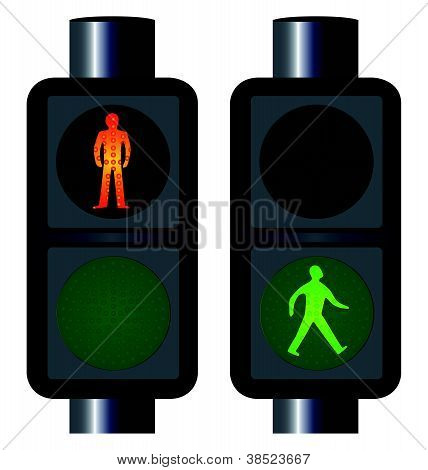 Walking Man Ampeln