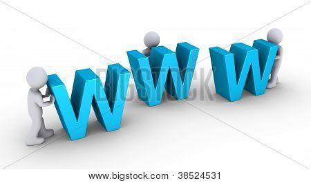 Three Persons Set Up Website