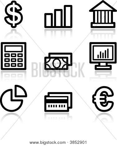Finance Black Contour Web Icons