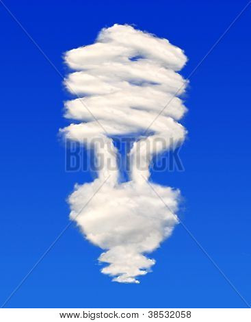 Bulb from clouds