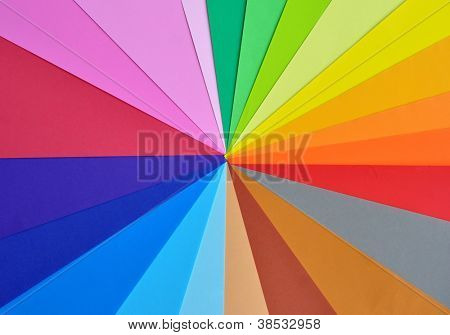 Colorful paper for background