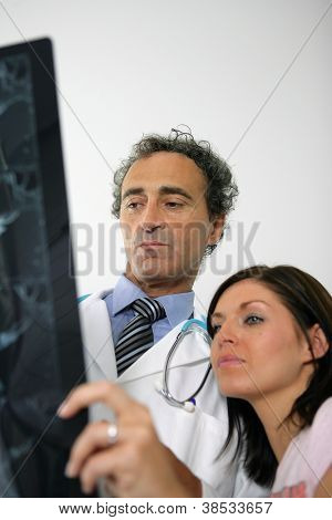Doctor getting a second opinion