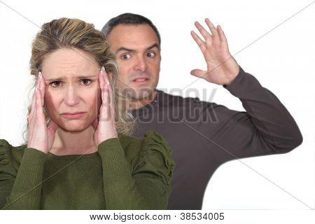 Couple fighting