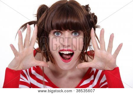 Eccentric brunette