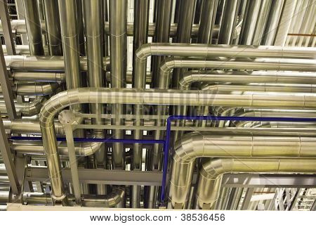 Industrial background with the image of pipelines