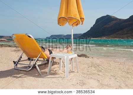 Woman Alone On The Beach 7