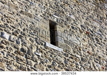 Detail of the Saint George Castle at Lisbon, Portugal