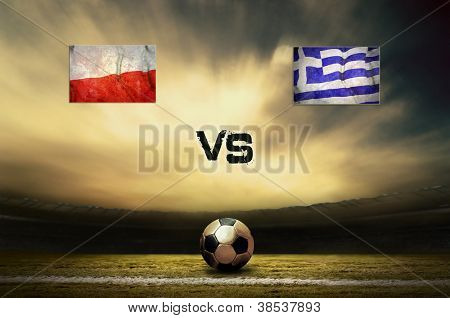 Friendly soccer match between Poland and Greece