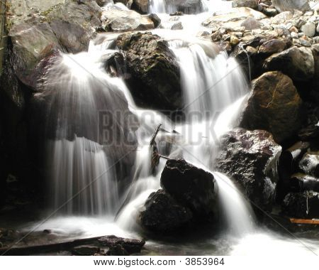 Silky Water Flow Of Rapids