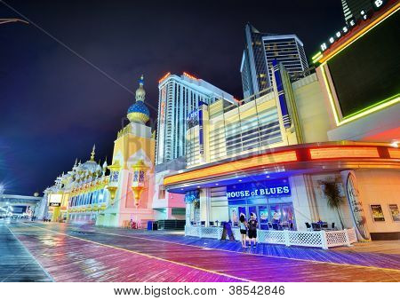 ATLANTIC CITY, NJ -  SEPTEMBER 8: Casinos on September 8, 2012 in Atlantic City, New Jersey. Gambling was legalized in the city in 1976 and led to a resurgence.