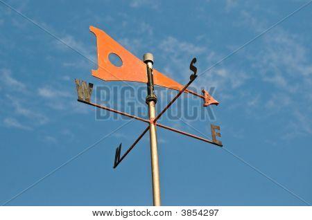 Orange Wind Vane