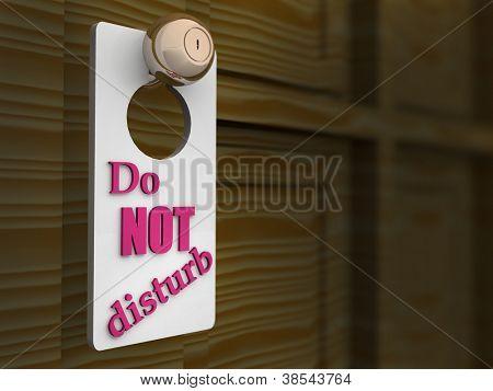 Do Not Disturb Sign. 3d