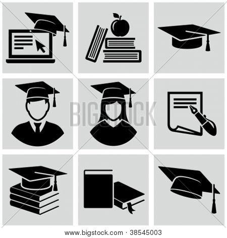 Bildung Icons set.