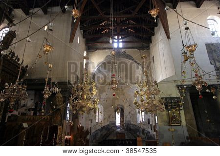BETHLEHEM - OCTOBER 05: The Basilica of the Nativity is one of Bethlehem's major tourist attractions and a magnet for Christian pilgrims, Bethlehem, Israel on October 05, 2006.