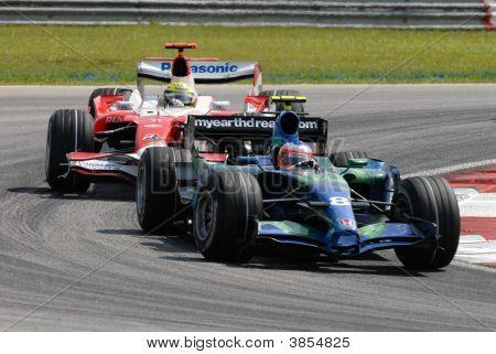 Honda Racing F1 Team Ra107 Rubens Barrichello F1 Sepang Malaysia 2007
