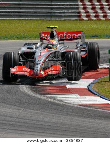 Vodafone Mclaren Mercedes Mp4-22 Lewis Hamilton British F1 Sepang Malaysia 2007