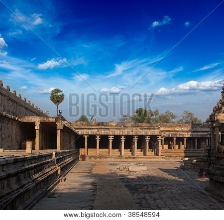 Airavatesvara Temple, Darasuram, Tamil Nadu, India. One of Great Living Chola Temples - UNESCO World Heritage Site.