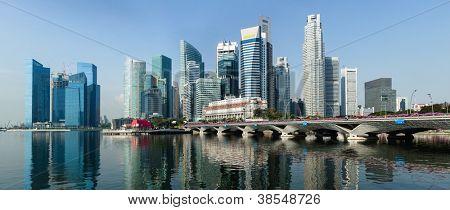 Singapore business district panorama