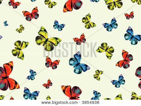 many funky butterflies