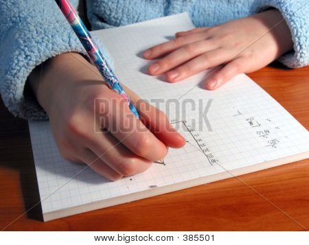 Hands Student Write