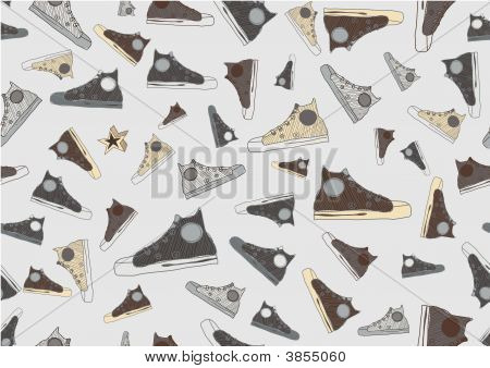 Cool Hand-drawn Sport Shoes