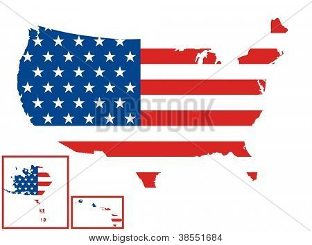 USA Map (United States Flag)