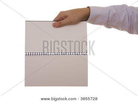 Hand And Notebook