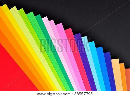 Stacked colorful paper for background