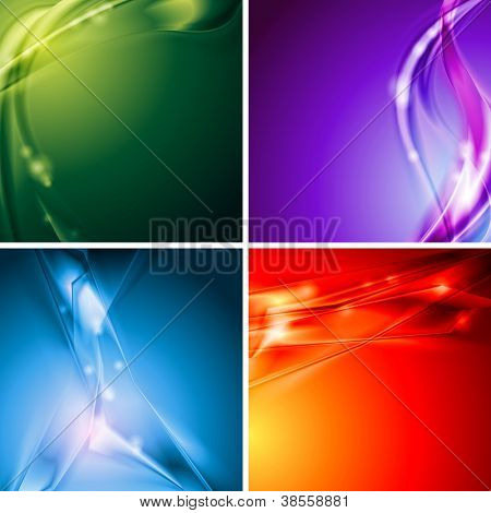 Set of abstract modern background. Vector design eps 10
