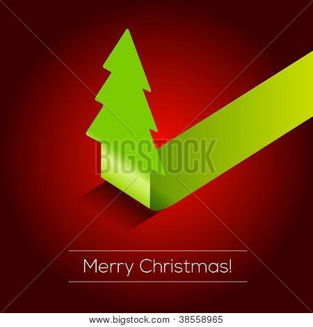 3D Christmas tree vector background | EPS10 Design