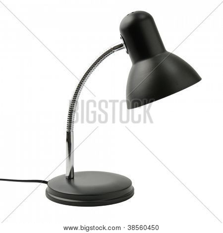reading lamp isolated on a white background