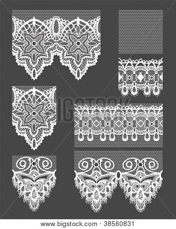 Gothic Style White Lace Seamless Lace Patterns.