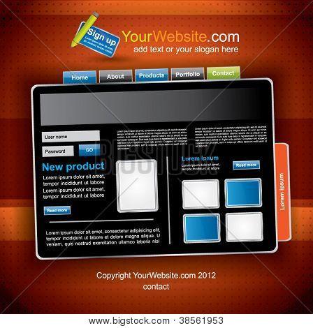 Trendy web2 dark website template