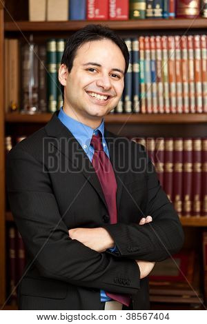 Young lawyer portrait