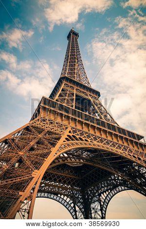 Close up of Eiffel Tower, Paris