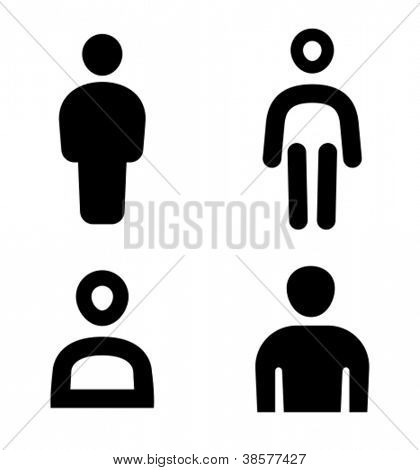 Four variants of man sign