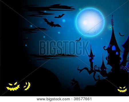 Scary Halloween night background. EPS 10.