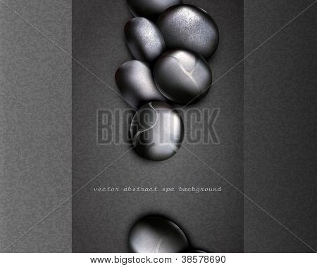 vector strict, business background with black stones