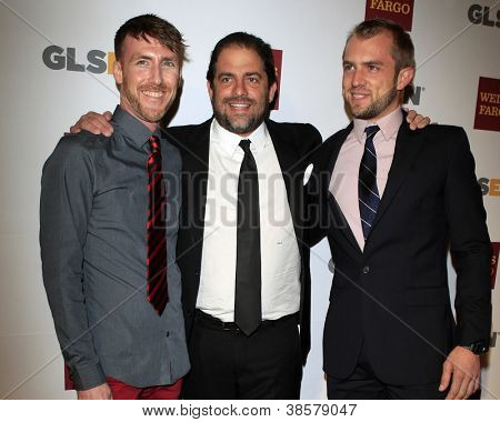 LOS ANGELES - OCT 5:  Adam Fitzgerald, Brett Ratner, Blake Drummond arrives at the 8th Annual GLSEN Respect Awards at Beverly Hills Hotel on October 5, 2012 in Beverly Hills, CA