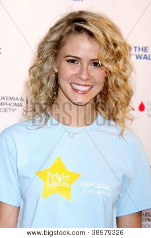 LOS ANGELES - OCT 6:  Linsey Godfrey attends the Light The Night Walk to benefit The Leukemia & Lymphoma Society at Sunset Gower Studios on October 6, 2012 in Los Angeles, CA
